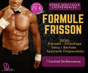 Soirée Dîner Spectacle Chippendales à paris (75) (Formule Frisson). Soirée Show Chippendales Paris pas cher.